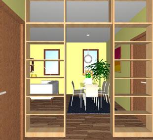vista 3d appartamento